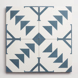 "cement new west pattern seven federal blue + white square 8""x8""x5/8"""