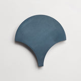 "cement solid federal blue scallop 8""x8""x5/8"""