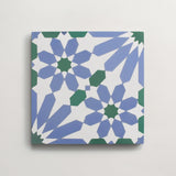 "cement moroccan one (andalucia) nautical blue square 8""x8""x5/8"""