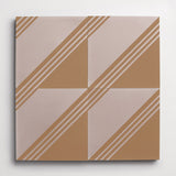 "gachot studios cement pattern four caramel + shell square 8""x8""x5/8"""