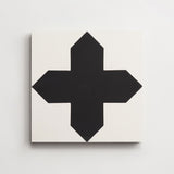 "cement compass white + black square 8""x8""x5/8"""