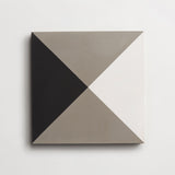 "cement criss cross metal, black + white square 8""x8""x5/8"""