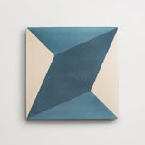 "cement diamond twist federal blue + teal square 8""x8""x5/8"""