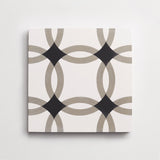 "cement interlock metal + black square 8""x8""x5/8"""