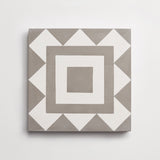 "cement los feliz metal + white square 8""x8""x5/8"" sample"
