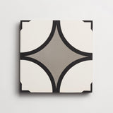 "cement peabody metal, black + white square 8""x8""x5/8"" sample"