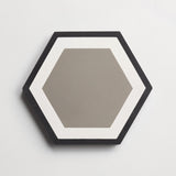 "cement honeycomb metal + black hex 8""x9""x5/8"" sample"