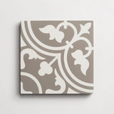 "cement four leaf clover metal + white square 8""x8""x5/8"""