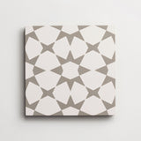 "cement moroccan 3 fez white + metal square 8""x8""x5/8"""