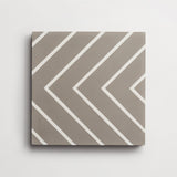 "cement zenith metal + white square 8""x8""x5/8"" sample"