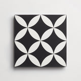 "cement wonderful copenhagen white + black square 8""x8""x5/8"""