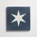 "cement star bright federal blue square 8""x8""x5/8"" sample"
