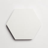 "cement solid white hex 8""x9""x5/8"""