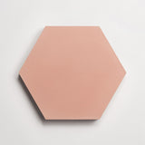 "cement solid red clay hex 8""x9""x5/8"""