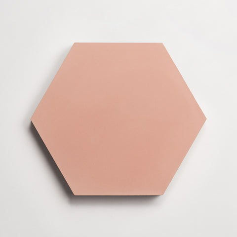 "cement solid red clay hex 8""x9""x5/8"" sample"