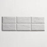 "clé basics carrara beveled subway tile 3""x6""x3/8"" sample"