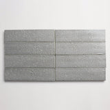 "clé basics modern farmhouse brick grey gloss rectangle <br> 2 1/2""x9 1/2""x3/8"""