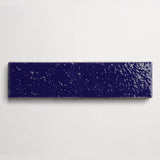 "clé basics modern farmhouse brick royal blue gloss rectangle 2 1/2""x9 1/2""x3/8"" sample"
