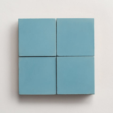 "solid square happy blue 2""x2"" made to order sample"