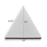 "white solid triangle 12""x13"" made to order"