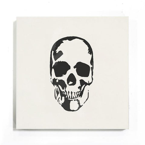 "deborah osburn - shakespeare skull 8""x8""x5/8"" sample"