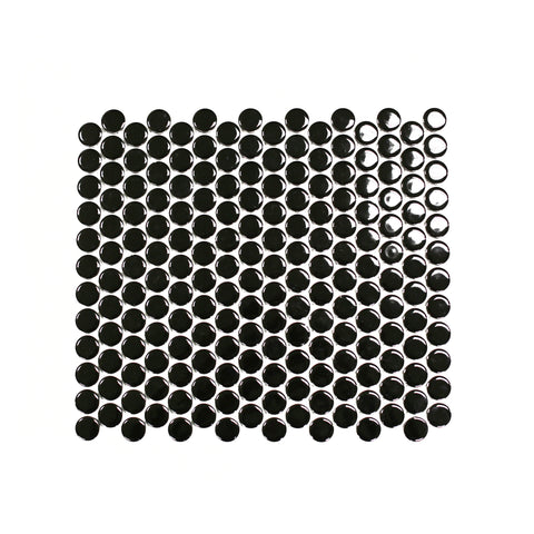 black penny round tile