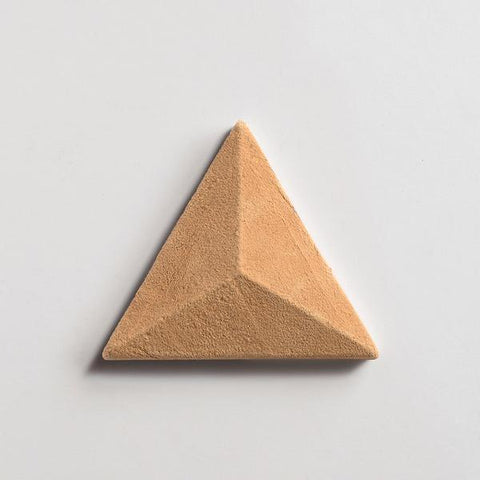 "fornace brioni mantegna cotto rosato triangle 6""x6 3/4""x1"" sample"