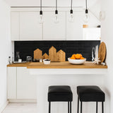 clé tile modern farmhouse brick glazed thin brick ceramic black tile backsplash