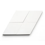 "white solid diamond 4.5""x8""x5/8"""