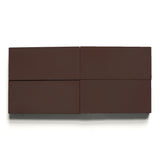 "solid rectangle 4""x8""x5/8"" made to order dark chocolate"