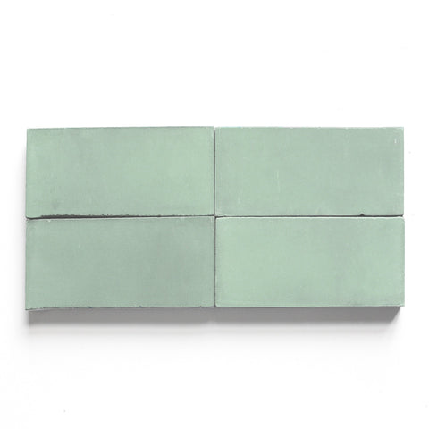"solid rectangle 4""x8""x5/8"" special order celadon"