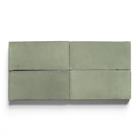 "solid rectangle 4""x8""x5/8"" special order vintage jade"