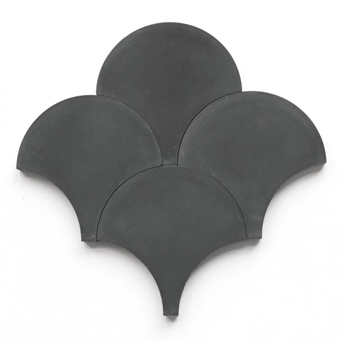 "charcoal solid scallops 8"" stock"