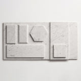 "clé basics carrara square tile 4""x4""x3/8"" sample"