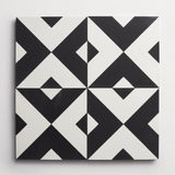"cement checkered past black + white square 8""x8""x5/8"""