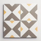 "cement checkered past metal + curry square 8""x8""x5/8"" sample"