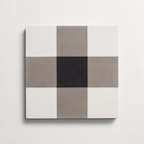 "cement checkmate metal + black square 8""x8""x5/8"""