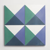 "cement criss cross federal blue, nautical blue + kelly square 8""x8""x5/8"""