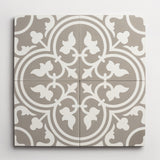 "cement four leaf clover metal + white square 8""x8""x5/8"" sample"