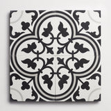 "cement four leaf clover black + ash square 8""x8""x5/8"""