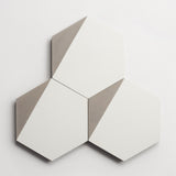"cement hex clip white + metal hex 8""x9""x5/8"" sample"