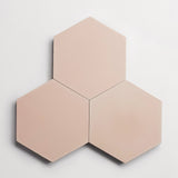 "cement solid mocha hex 8""x9""x5/8"" sample"