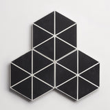 "cement try angle line black hex 8""x9""x5/8"""