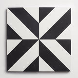 "cement industrial milan black + white square 8""x8""x5/8"" sample"