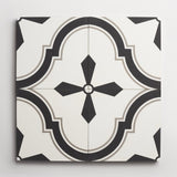 "cement malibu white, black + metal bundle 8""x8""x5/8"" sample"