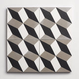 "cement modern roman holiday black + metal square 8""x8""x5/8"" sample"