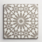 "cement moroccan one (andalucia) metal + white square 8""x8""x5/8"""