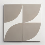 "cement arc metal + white square 8""x8""x5/8"""