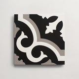 "cement robusto black + metal square 8""x8""x5/8"" sample"