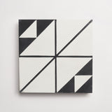 "gachot studios cement pattern one white + black 8""x8""x5/8"""